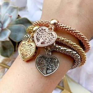 "Jewelry - ""Tree of Life"" Heart Edition Charm Bracelet Trio"